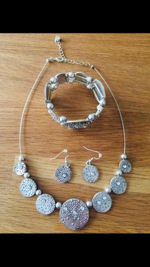 Bijou Brigitte Necklace silver-colored