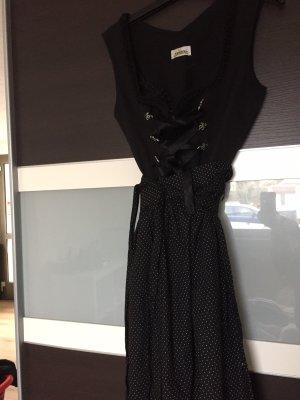 Almsach Vestido de manga corta negro-blanco