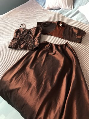 Corsage Dress brown-cognac-coloured