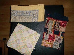 3 tücher,verschiedene farben und grössen
