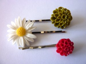 Hair Clip multicolored synthetic material