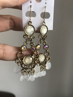 Earring multicolored synthetic material