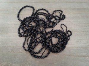 30 schwarze Armbänder mit gummizug