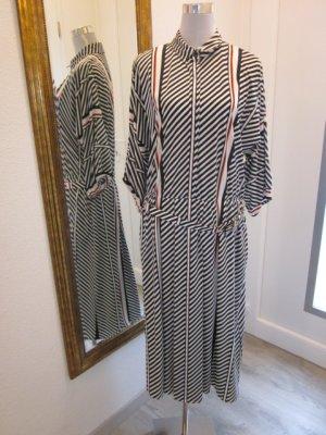 30 ties Kleid gestreift schwarz weiss rot Gr M/L