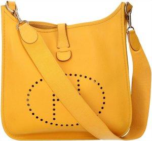 Hermès Bolso amarillo-color oro Cuero