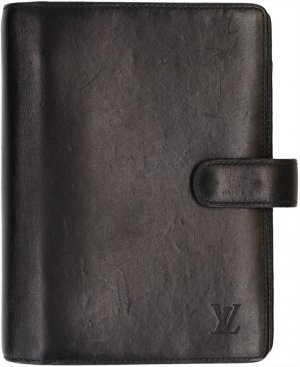 Louis Vuitton Writing Case black-gold-colored leather