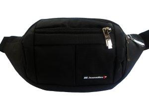 [BK_Innovation] Gürteltasche geeignet für Reise, Wanderung, Sport und alle Outdoor Aktivitäten. Hüfttasche für Damen und Herren mit 4 Fächern für Flugtickets, Schlüssel, Geld, Reisepass und Handys bis 18cm (7 Zoll). Bauchtasche mit headset-öffnung.