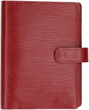 31874 Louis Vuitton Agenda Fonctionnel MM Epi Leder Rot Kalender Terminplaner