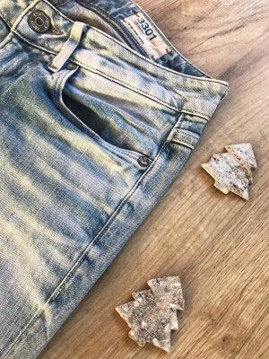 3301 Low Waist Skinny Jeans von G-Star in mittelblau