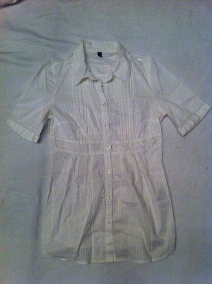 Lange taillierte Cremefarbene Bluse mit leichten Rüschen Vero Moda Gr. M / 38