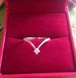 333 9k Gelbgold Brillant Ring, Gr. 17,2; 53 - 54; wunderschön funkelnd, OVP 499,-€