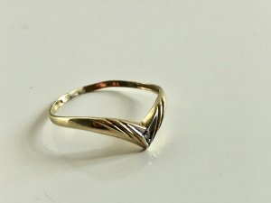 333 Gold Ring Goldring Brillant Diamant 8kt 8ct 8 Karat 333er Gold