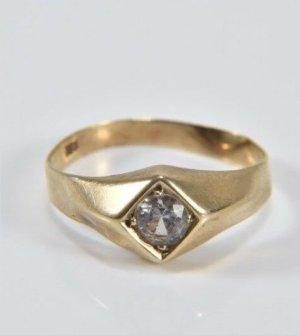 333 Gold Ring Goldring Edelstein weiss Brillant Schliff facettiert 8kt 8ct 8 Karat 333er Gold