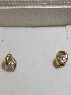 100 Ear stud gold-colored