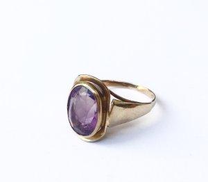 333 true vintage Amethyst Ring Echtgold Gr. 17,6/55,5