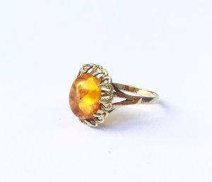 333 vintage Bernstein Ring Echtgold Gr. 17,6/55,6