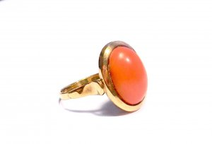 333 vintage Korallen Ring Echtgold Gr. 17,6/55,5
