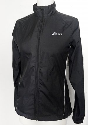 Asics Sports Jacket black-silver-colored nylon