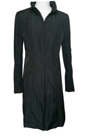 34 36 XS ZARA BASIC leichter Mantel Jacke schwarz