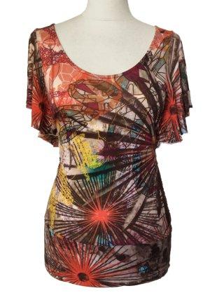 34 XS DESIGUAL shirt Hemd longshirt bunt tiptop
