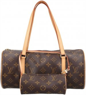 34406 Louis Vuitton Papillon Tasche, Handtasche aus Monogram Canvas