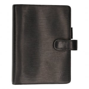 34416 Louis Vuitton Agenda Fonctionnel MM Epi Leder in Kouril Schwarz Schreibmappe
