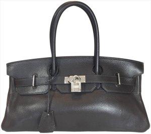 34586 Hermès Birkin JPG Shoulder Tasche, Handtasche, Schultertasche aus Leder in Dunkelbraun