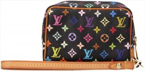 34669 Louis Vuitton Wapity Mini Monogram Multicolore Canvas in Schwarz Tasche, Handtasche, Clutch Anhänger