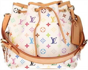 35181 Louis Vuitton Petit Noe PM Monogram Multicolore Canvas Tasche, Handtasche, Schultertasche
