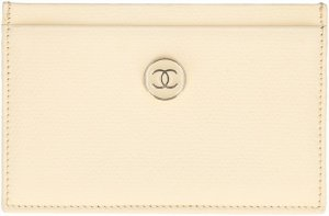 Chanel Card Case oatmeal leather