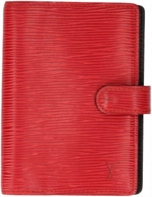 35324 Louis Vuitton Agenda Fonctionnel PM Epi Leder in Castillian Rot