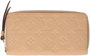35332 Louis Vuitton Geldbörse, Portemonnaie Zippy aus Monogram Empreinte Leder in Dune