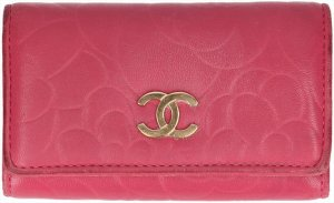 Chanel Key Chain pink leather
