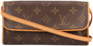 35520 Louis Vuitton Pochette Twin PM aus Monogram Canvas Clutch, Tasche, Handtasche