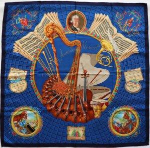 35708 Hermès Seidentuch Motiv Hommage à Mozart Tuch, Schal, Stola in Blau