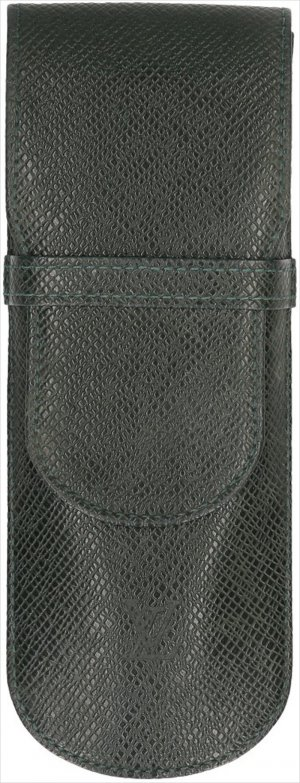 Louis Vuitton Minitasje donkergroen Leer