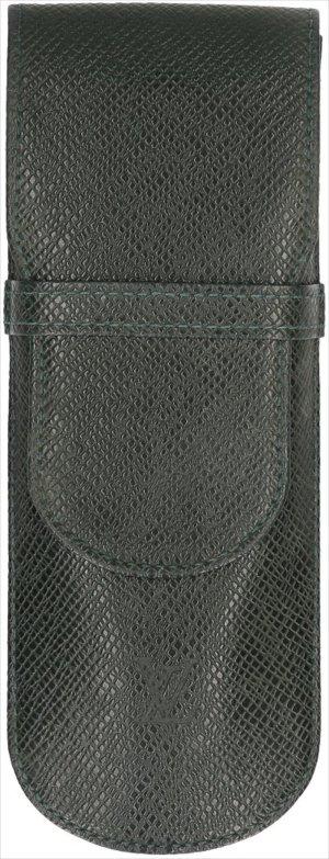 35760 Louis Vuitton Etui Stylos Taiga Leder in Epicea Grün Schreibgeräte Etui