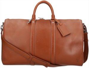 Louis Vuitton Reistas bruin-zilver Leer