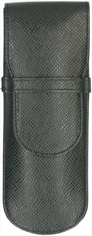 35808 Louis Vuitton Etui für Schreibgeräte Etui Styles aus Taiga Leder in Epicea Grün