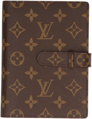 Louis Vuitton Writing Case dark brown-brown