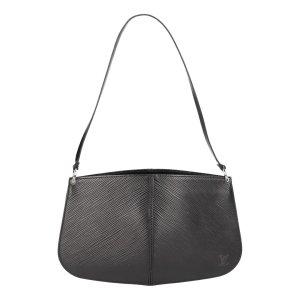 35883 Louis Vuitton Pochette Demi-Lune aus Epi Leder in Noir Schwarz Tasche, Handtasche
