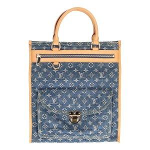 35885 Louis Vuitton Sac Plat Monogram Denim Canvas Tasche, Handtasche, Henkeltasche
