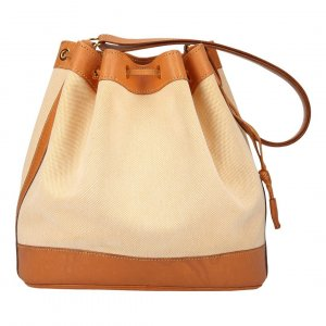35923 Hermès Market 28 aus Canvas und Leder Tasche, Handtasche, Schultertasche