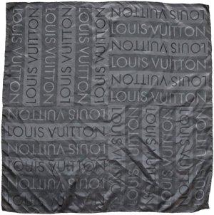 Louis Vuitton Foulard en soie noir soie