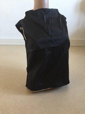 H&M Top con colletto arrotolato nero Fibra sintetica