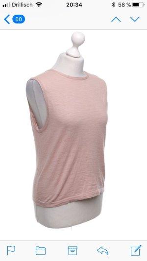 360Cashmere Top lavorato a maglia rosa pallido-rosa antico