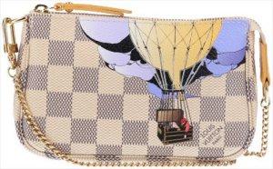 36394 Louis Vuitton Illustre Mini Pochette Accessoires aus Datier Azur Canvas Tasche, Clutch mit Box