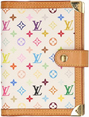 36483 LOUIS VUITTON AGENDA FONCTIONNEL PM AUS MINI MONOGRAM MULTICOLORE CANVAS IN WEISS