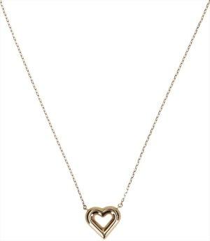 36496 Louis Vuitton Halskette mit Herz aus goldfarbenem Metall mit Staubbeutel