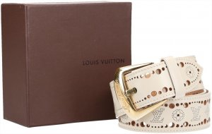 Louis Vuitton Lederen riem room Leer
